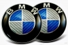 2ER SET - BMW - CARBON EMBLEM 82MM
