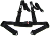 4 POINT BLACK CAR RACING SEAT BELT HARNESS