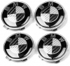 4PCS BMW WHEELS CARBON BADGE (Ø 68MM)