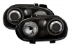 VW GOLF 4 - HEADLIGHTS ANGEL EYES (DEPO)