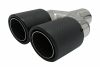 TWIN CARBON FIBER EXHAUST MUFFLER TIP PIPE IN 58MM