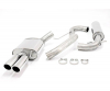 SKODA OCTAVIA RS 1Z - SIMONS CAT BACK EXHAUST SYSTEM Ø 76MM