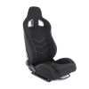 FOLDABLE BLACK SPORT BUCKET SEAT