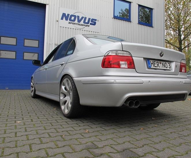 Novus Sportauspuff Schalldämpfer 2 x 76mm  BMW E39 Limousine Typ  E39