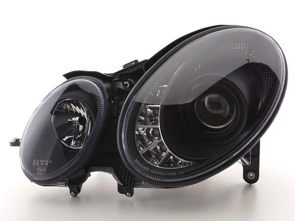 mercedes w211 xenon halogen scheinwerfer swiss tuning. Black Bedroom Furniture Sets. Home Design Ideas