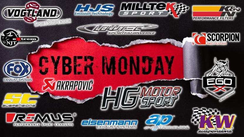 Cyber Monday 2020 Sale im Online-Shop der Swiss Tuning AG