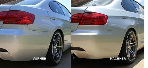 Distanzscheiben vorher und nacher mit BMW E92 Coupe