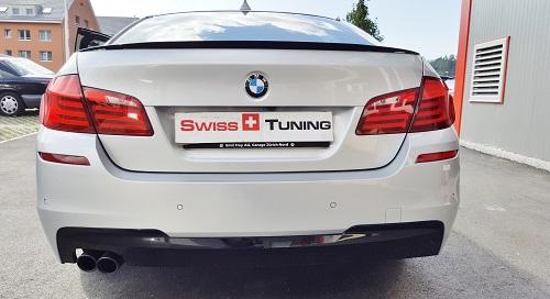 BMW F10 5er Limousine M-Paket vorher Remus Auspuff